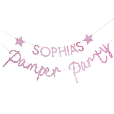 Pamper Party, Pink Sleepover Party Bunting